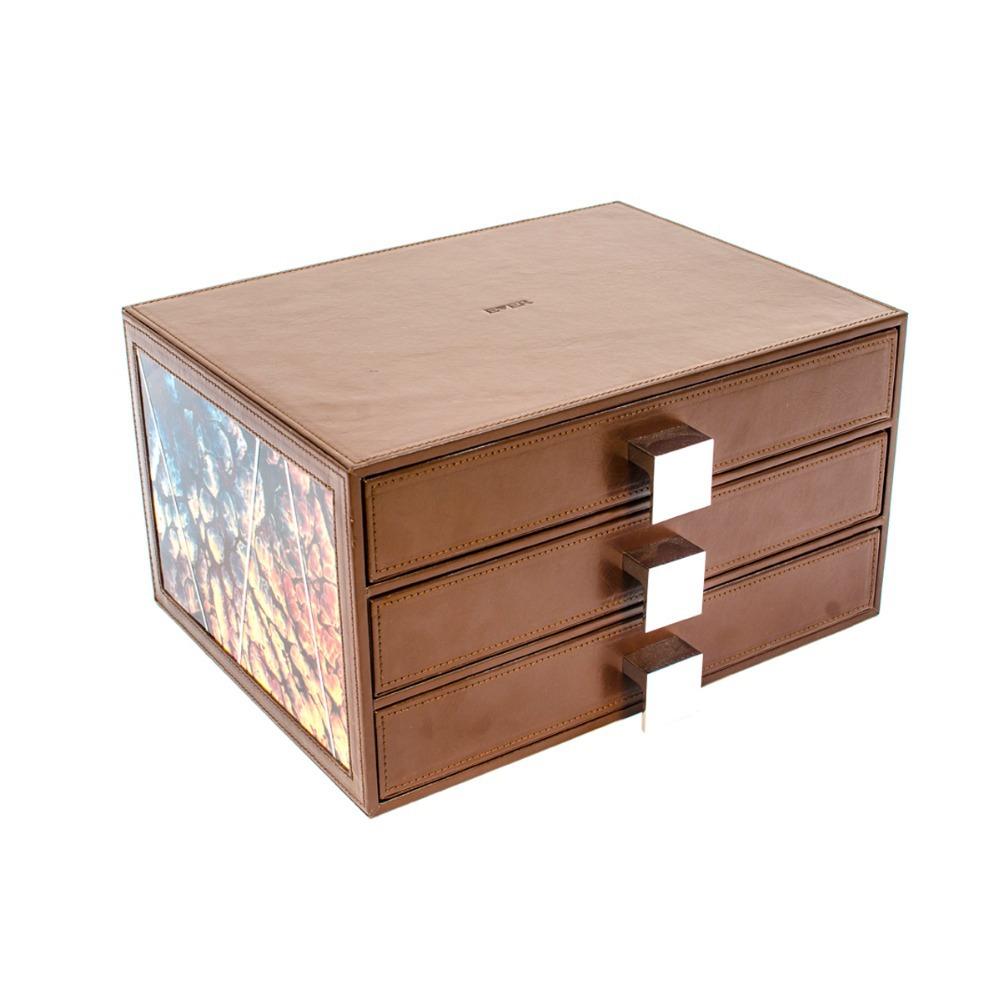 Modern Box Drawer Storage 3 Drawer File Box