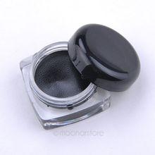 Brand New Waterproof Gel Eyeliner Black Eyeliner Gel Makeup Cosmetic + Brush Makeup Set PMHM541P50