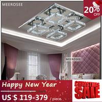 Modern LED Diamond Crystal Ceiling Light Fitting Crystal Lamp for Hallway Corridor Fast Shipping