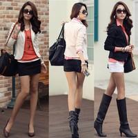 Free Shipping 2014 Fashion Jackets Suit One Button Slim Ladies Blazers Work Wear Blazer Womens Blazer B2#