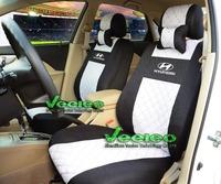 "Free Shipping+""Generic Version"" Seat Cover For HYUNDAI Solaris Elantra Accent Sonata Verna i30 i35 With Silk Material +Logo"