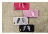 Wings Fashion Stents TPU Plastic GEL Kick Stand Hard Shell Back Case  For Apple For iPhone 5 5S