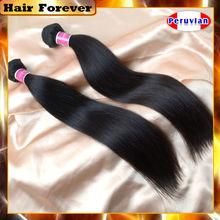 Cabelo para sempre fábrica preço barato cabelo humano 3 pcs muito não transformados virgem cabelo peruano halloween natural extensões de cabelo(China (Mainland))