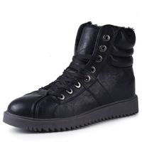 Winter Outdoor Man Casual Warm Sneaker EU 39-44 Super Quality High Top Lace Up Design Thicker Men Fashion Leather Boots