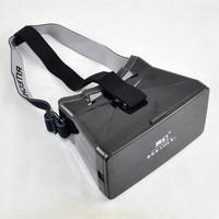 Plastic Head Mount 3D Virtual Reality Video Glasses for Google Cardboard Black