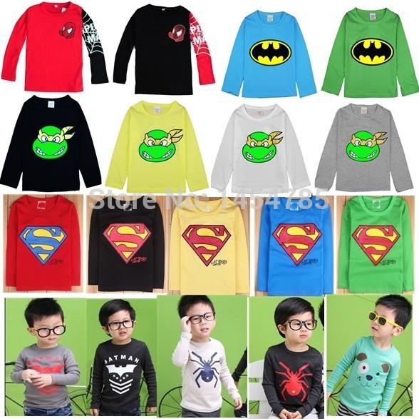 2015 New!children clothes boys girls unisex t shirt multicolor optional cartoon children t-shirts children's t-shirt 100% Cotton(China (Mainland))
