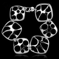 H353Free Shipping Latest Women chic Design 925 silver Stamp bracelet Factory pulseira / pulsera