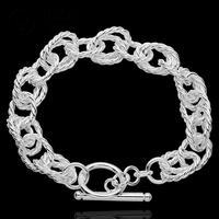 H318 New Arrival Latest Women chic Design 925 silver Stamp bracelet Factory pulseira / pulsera