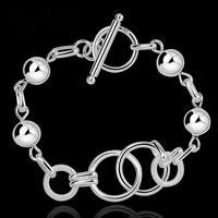 H351 Free Shipping Latest Women chic Design 925 silver Stamp bracelet Factory pulseira / pulsera