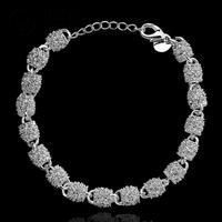 H354Free Shipping Latest Women chic Design 925 silver Stamp bracelet Factory pulseira / pulsera