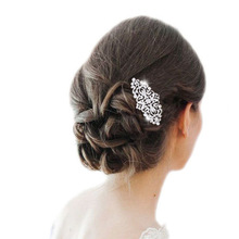 BELLA 2015 New Spring Elegant Flower Leaf Bridal Hair Comb Pin With Rhinestone Austrian Crystal Wedding