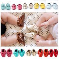 2015 Baby Moccasins Shoes Infant Newborn Baby firstwalker Soft Sole Genuine Leather Prewalker boy girl Butterfly Tassels 20 c