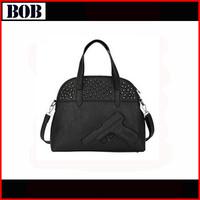 2014Women gun bag 3d cartoon gun print pistol rivet bag rock punk PU Leather messenger shoulder bags Vlieger&Vandam bolsos mujer