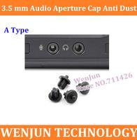 Hot Sale 50PCS/lot A type Black Universal 3.5 mm audio aperture Cap anti dust stopper Protect cover