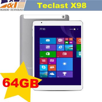 """Teclast X98 воздуха 3 г 9.7 """" двойной ос грин бэй Trail-T четырехъядерных процессоров WIndows 8.1 + андроид 4.4 двойной загрузки 8500 мАч HDMI GPS OTG телефонный звонок планшет"""