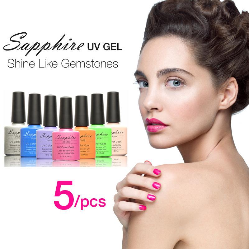Гель для ногтей Sapphire 5PCS 159 7.3 Off 24005X5 синяк off гель 30г
