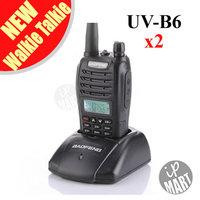 FS!BaoFeng UV-B6 UVB6  Walkie Talkie Transceiver Dual Band Two Way Radio 136-174Mhz&400-520Mhz Earphone Free  2pcs/lot