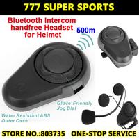 Motorcycle Helmet Bluetooth Headset Waterproof 500 Meters Walkie Talkie Two Way Radio  Intercom Headphone Free Shipping