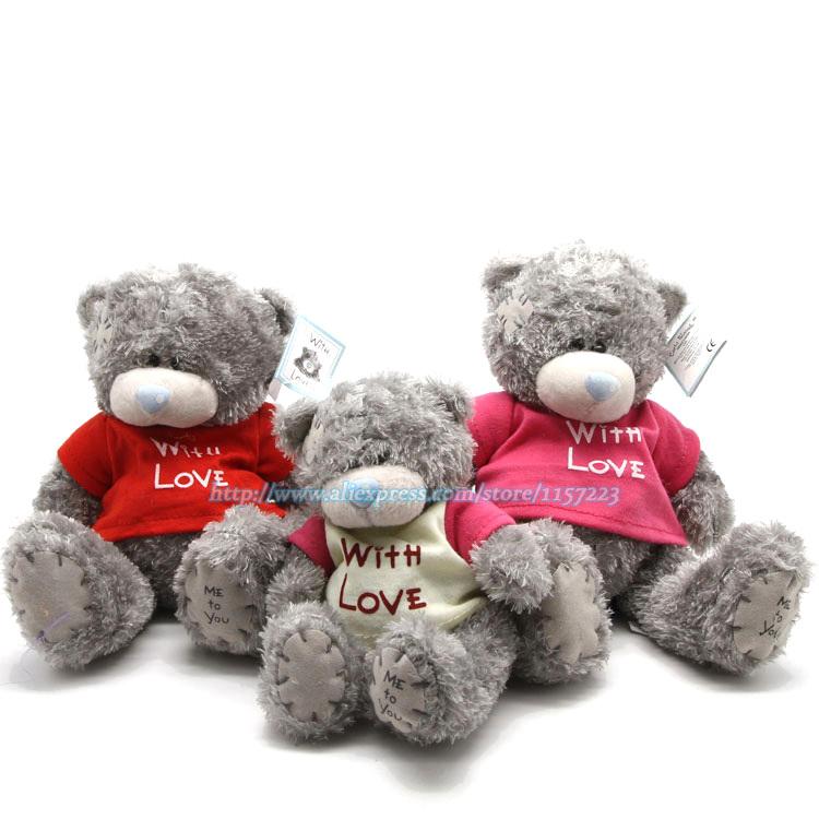 Wholsale Cartoon Plush Teddy Bear Stuffed Toys Cute Bears Dolls Birthday Valentines for Kids Christmas Gift(China (Mainland))