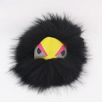 18cm Real raccoon leather fur bag monster charm bag for woman handbag accessories leather fashion messenger bag pet bag bugs