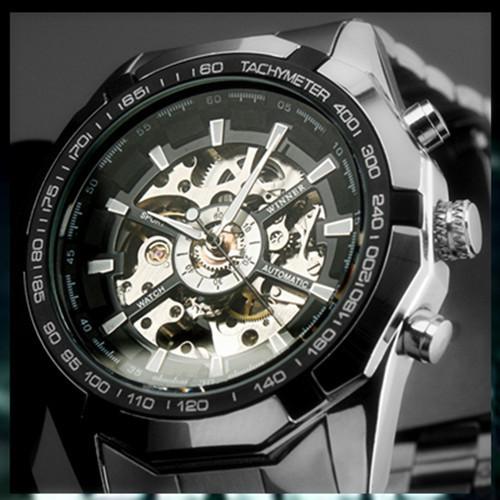 Clock mens font b automatic b font mechanical men font b wrist b