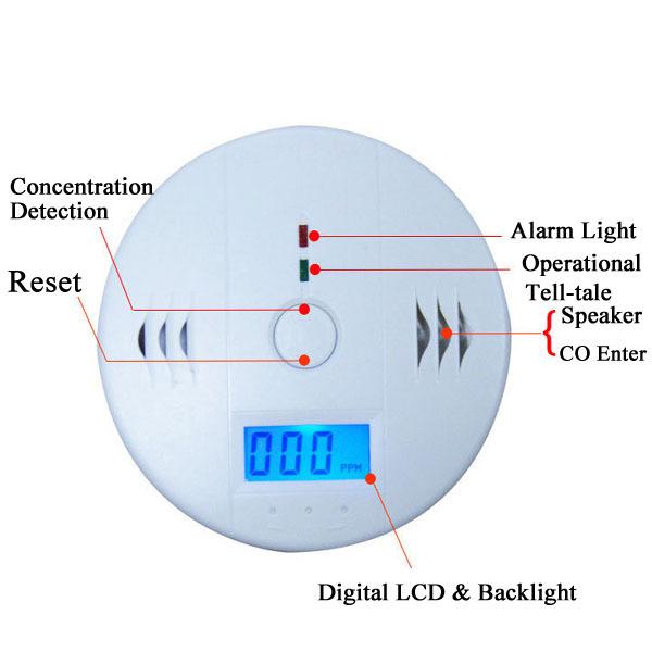 2014 High Sensitive Digital LCD Backlight Carbon Monoxide Detector Tester Poisoning CO Gas Sensor Alarm for Home Security Safety(China (Mainland))