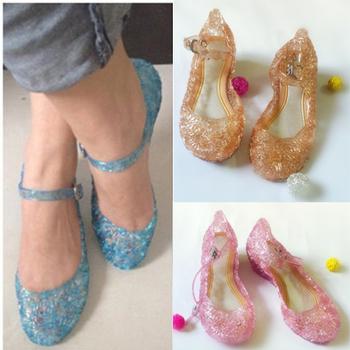Девушки эльза обувь 2015 горячая распродажа обувь синий девушки квартиры дети детская обувь высокое качество принцесса обувь для девочек
