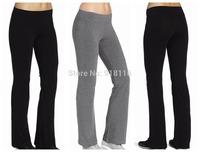 Women Yoga  Boot Cut  Pants  Full Cotton Trousers Comfort Slim Sports Tight Pant