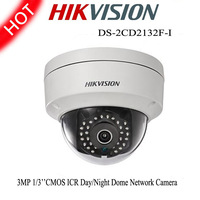 Hikvision IP Camera 1/3''CMOS 3MP HD 1080P Mini Dome DS-2CD2132F-I Indoor Network Infrared Waterproof Security CCTV IP Camera