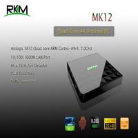 RKM Quad core 4K MINI PC MK12 2G RAM,16G ROM AmlogicS812 ARM Cortex-A9r4, 2.0GHz dual band WiFi Gbit Ethernet Optical HDMI