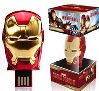 real capacity discount ON Sale NO number Metal hero Ironman mask usb flash drive 2GB 4GB 8GB flash stick pendrive