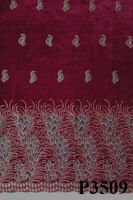 high quality embroidered velvet fabric with good price for garment