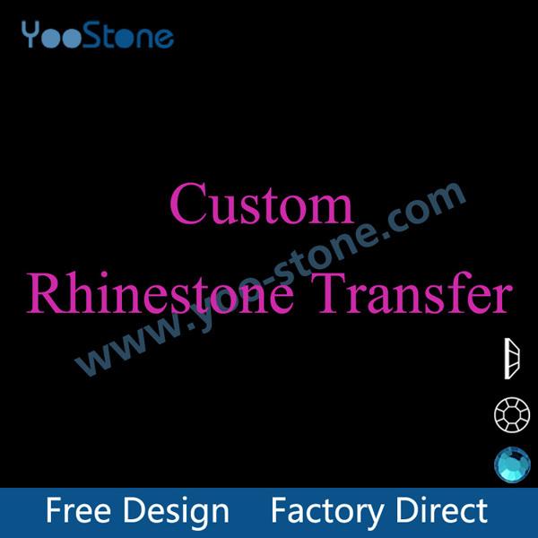 China Factory Custom Rhinestone Transfer, Rhinestone Motif, Iron On Transfer, Free Shipping MQQ 20 Pcs/Lot(China (Mainland))