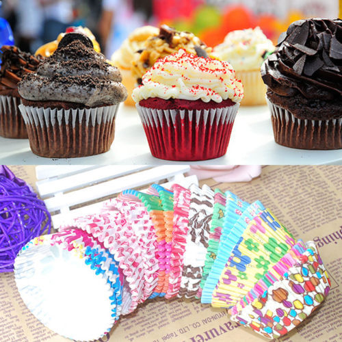 100 PCS Cute Paper Cake Cup Liners Baking Cup Muffin Kitchen Greaseproof Paper Cupcake Cases(China (Mainland))