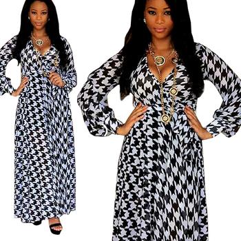 Хаундстут образцу платья повязки 2015 лето женщины v-образным вырезом с длинным рукавом BodyCon вечер ну вечеринку платье vestido Большой размер