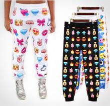nuevas mujeres pantalones emoji corredores ropa nueva 2014 emoji otoño casual de la mujer pantalones pantalones deportivos las mujeres harén lj183qaf pantalones(China (Mainland))