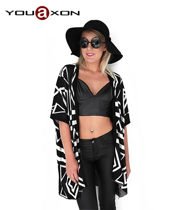 1309 YouAxon Plus Size Poncho Aztec Tribal Geometric Long Desigual Asymmetrical Cloak Sweaters Cardigan For Women Sweater(China (Mainland))
