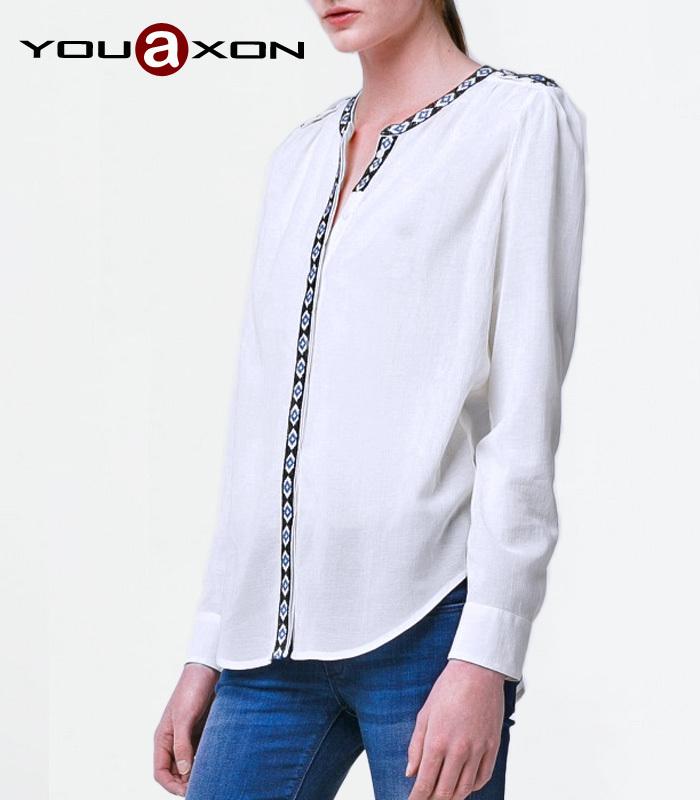 Женские блузки и Рубашки Blusa branca 1763 YouAxon Camisas Femininas roupas femininas женские блузки и рубашки hi holiday roupas femininas blusa blusas femininas