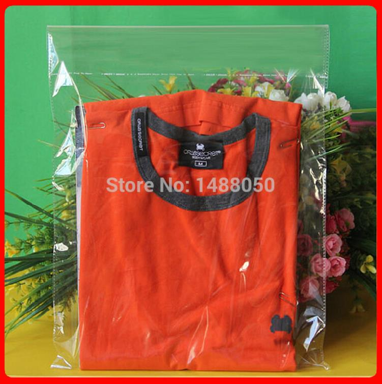 Free Shipping 100pcs/lot 28cm*42cm*50mic High Quality Plastic Shirt Packaging Gift Shopping Bags Snack Packaging Wholesaler(China (Mainland))