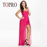 Topro 2015 New Chiffon Irregular Wedding Party Dress Elegant Strapless Elegant Celeb Novelty Dresses Vestidos Desigual HW0207