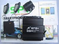 GSM Auto Security Alarm Detector iPhone / Android GPS Monitor One Touch Engine Start/Stop Vehicle Management By RF,BT GSM & WiFi