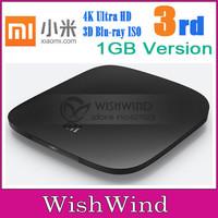 100% Original 3rd MIUI Xiaomi Mi Smart TV Box 3 Quad Core Cortex-A9 2GHZ 4K HDMI 3D Blu-ray Media Player 1GB/4GB 2.4/5G Wifi