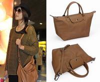 2014 new fashion Women leather Handbags waterproof folding dumplings tote women's messenger bags single shoulder bag