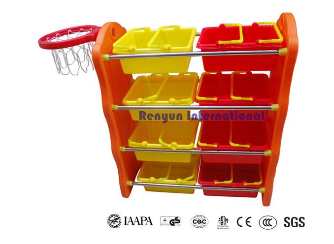 Children toy organizer with basketball ring storage shelf plastic storage units for kids(China (Mainland))