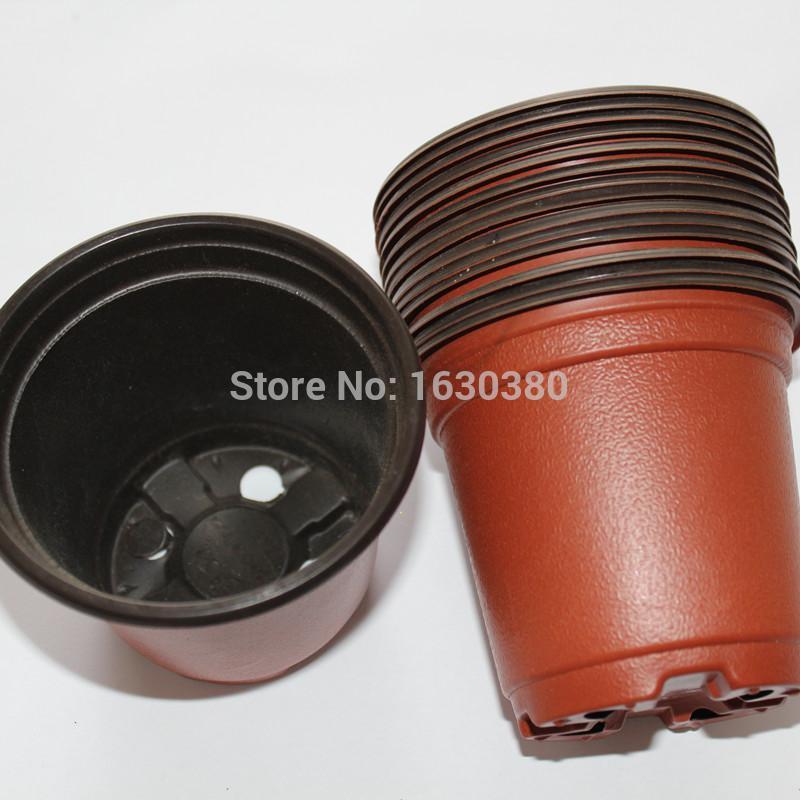100 pcs Plants gardening supplies plastic flower pot two-color pot caliber 90mm high 80mm basin flower pot ceramic flower pot(China (Mainland))