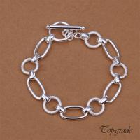 Single Twisted Wave TO Bracelet High Quality Jewelry Bracelets Bangles 925 Sterling Silver Jewelry Ellipse Loom Bands Vintage