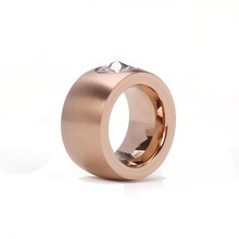 Hot MDL Brand Ring Stainless Steel Rose Gold 18K Gold Silver SWA Element Fine Zircon Jewelry