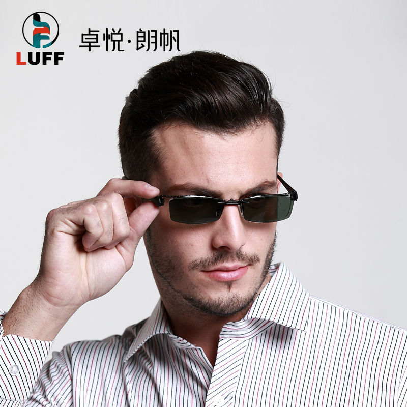 MEN S Glasses Frame Magnetic Clip Sunglasses UV400 Yellow Polarized Night Vision eyeglass half frame Myopia