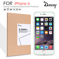 Original Daway Phone Film Premium Tempered Glass Film Screen Protector For iPhone 6 Cell Explosion Proof Clear Toughened Film