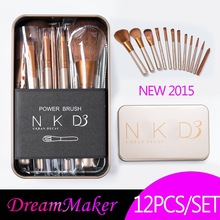 Free Shipping 12 Pcs new naked 3 brush,NK3 Makeup Brush kit Sets for eyeshadow blusher Cosmetic Brushes Tool WSD1048(China (Mainland))
